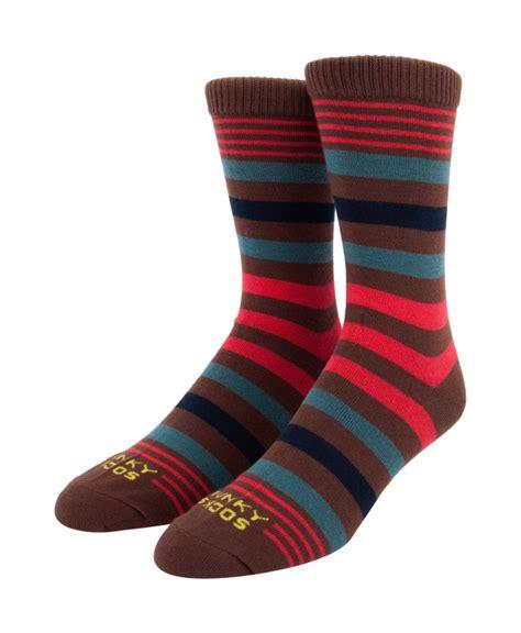 funky socks on sale funky socks s 2 pack multistripe crew socks khaki