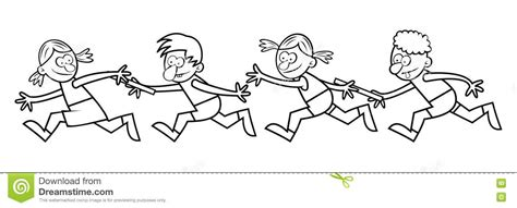 Courses De Relais Livre De Coloriage Illustration De Coloriage Pour Gar On L