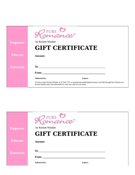 free gift card templates 2018 gift certificate form fillable printable pdf