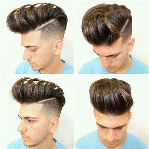 view from back of pompadour hair style tagli pompadour per uomini trend capelli