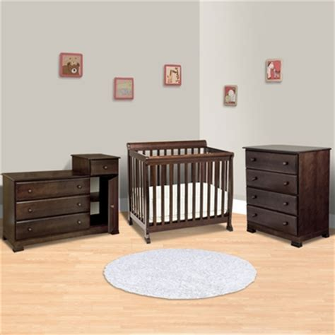 Davinci Kalani Mini Crib Espresso Da Vinci 3 Nursery Set Kalani Mini Crib 4 Drawer Dresser And Combo Changer Dresser In