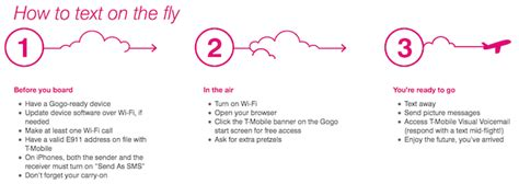 tmobile gogo t mobile adds free gogo inflight texting one mile at a time