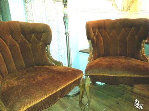 chalk paint velvet painted upholstery on antique chairs hometalk