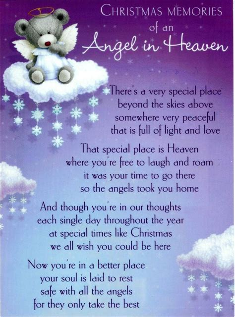 angel  heaven poem   shed tears     quotes pinterest infant