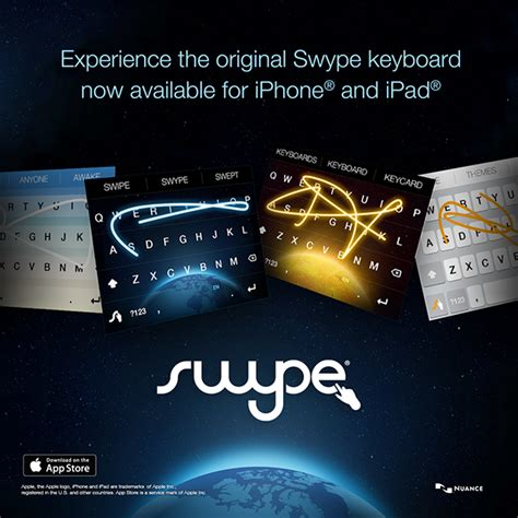 swype itunes swype banner ads for ios launch on pantone canvas gallery