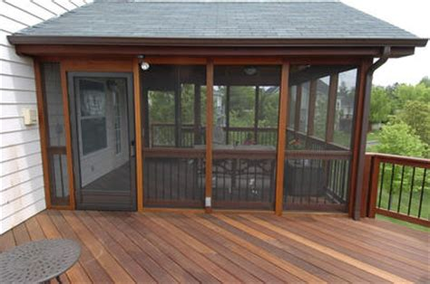 Add Screen Porch To Deck adding a roof to your deck design by archadeck st louis st louis decks screened porches