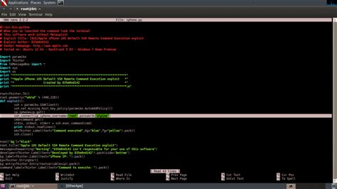 flu project hacking con python flu project exploit title gui apple iphone ios default