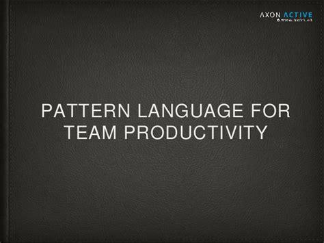 scrum pattern language pattern language for team productivity mr khoa le mr