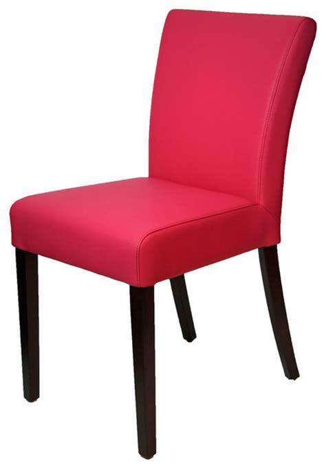 pink dining room chairs pink leather dining room chair in low back contemporary