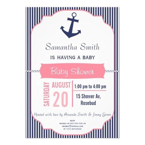 cheap nautical themed baby shower invitations 17 best images about nautical baby shower invitations on
