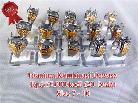Grosir Cincin Titanium jual grosir ring emban ikatan cincin titanium