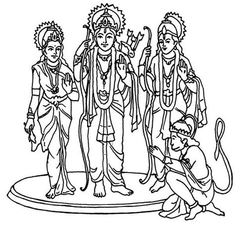 hindu gods colouring pages