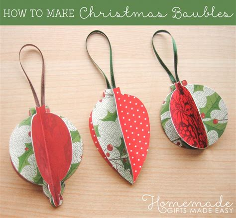 How To Make A Paper Bauble - ornaments to make