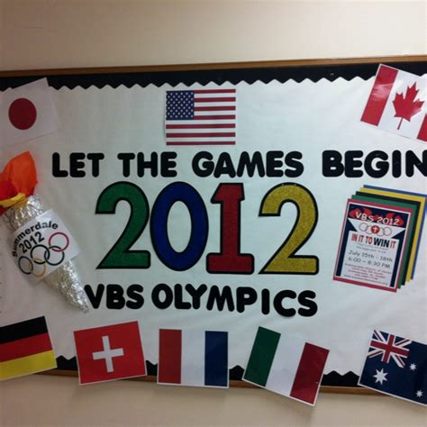 themes for olympic games let the games begin adaptable bulletin board for an