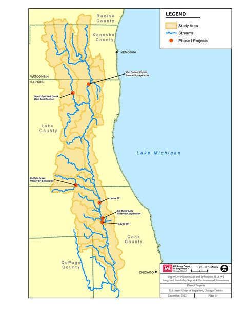 chicago river map chicago district gt missions gt civil works projects gt des