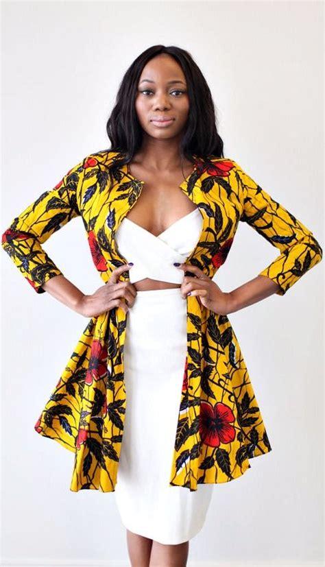 nigerian ankara jackets the nairobi ankara jacket dress in golden hibiscus ankara