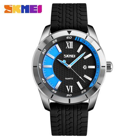 Skmei Jam Tangan Kasual Pria skmei jam tangan analog kasual pria 9151 blue