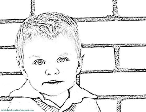 Turn Your Photo Into A Coloring Page turning photos into colouring pages craft ideas