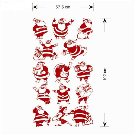 Self Adhesive Wall Decoration Sticker diy 13 funny santa clause christmas decors wall stickers