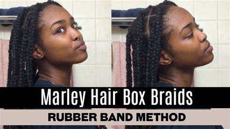 how to make marley hair last marley hair box braids using the rubber band method