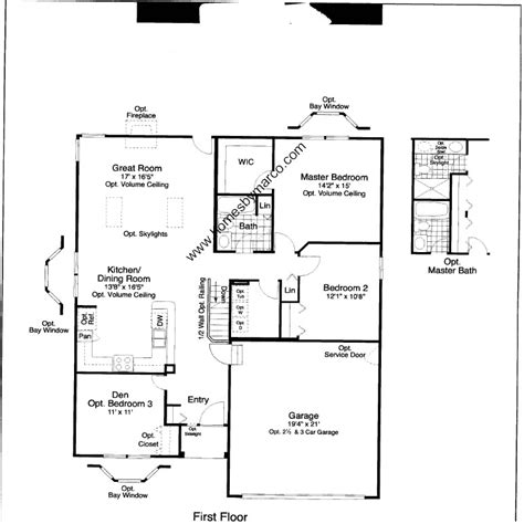 floor plan model magnolia model in the renwick trail subdivision in joliet illinois homes by marco