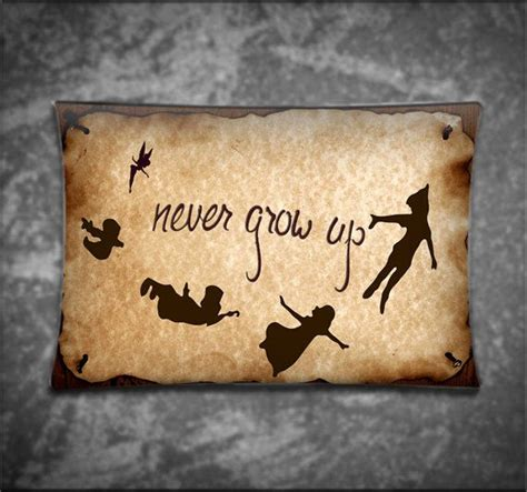 peter pan quotes never grow up pillow case cover custom unique pillow cover disney vintage peter pan never grow