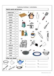 Kitchen Vocabulary by 50 000 Free Esl Efl Worksheets Made By Teachers For Teachers