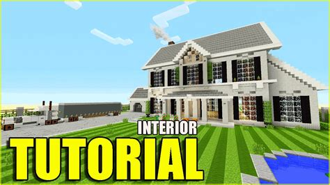 minecraft suburban house tutorial minecraft tutorial how to make a suburban house interior top house 2016 youtube