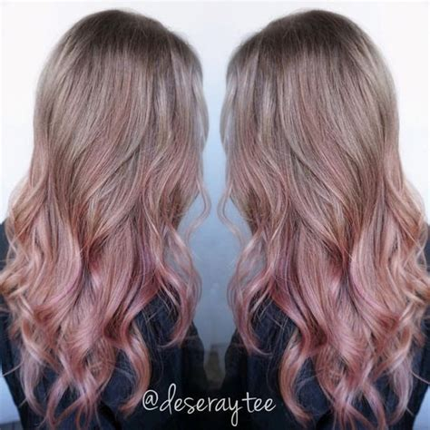 Ombre Hair Clip Dusty Pink dusty pink balayage search gold hair
