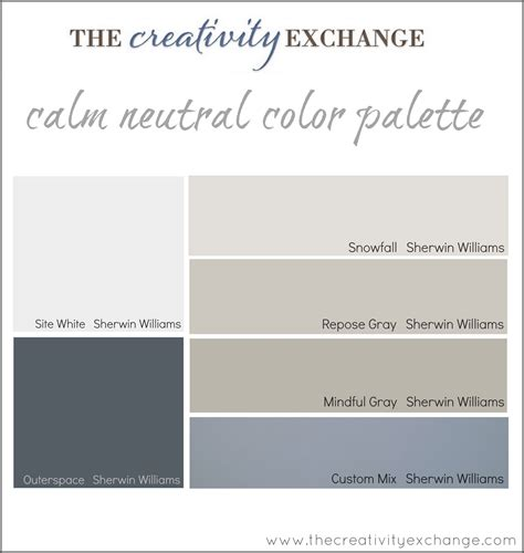 Go In A Neutral by Office Craft Room Paint Color Palette Paint It Monday