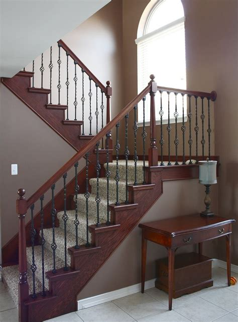 dark wood banister 17 best images about iron spindles on pinterest wood