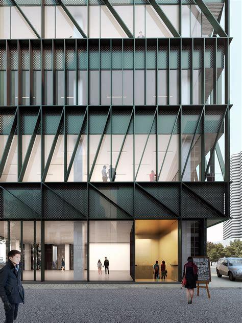 Modern Lobby gallery of mecanoo unveils namdaemun office building in