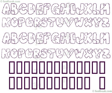 Patchwork Font - font freak patchwork letter freeware by melle derieppe