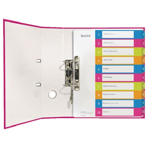 Pen Paper Inter X Folder Index Divider 5 Tabs A4 leitz colored wide index dividers with 1 10 numbered tabs q8supply we sell best pos