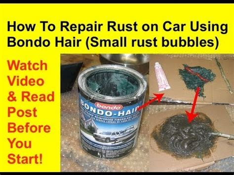 8 Products To Fix Your Figure by How To Repair Rust Using Hair Or Bondo Hair Rust
