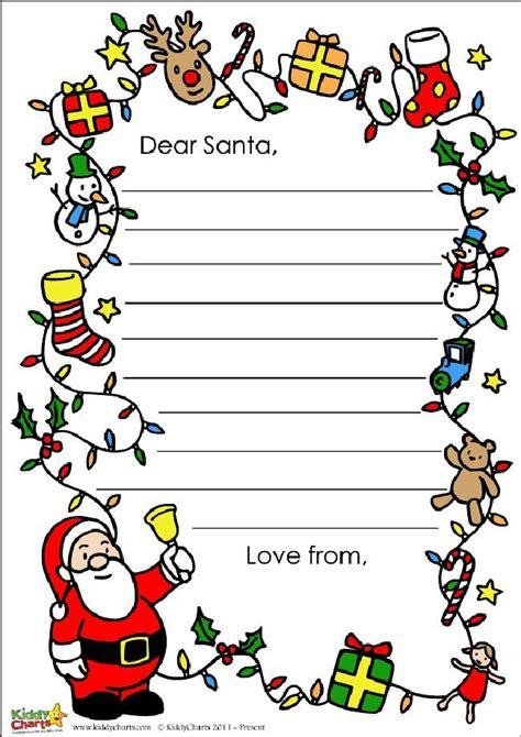 santa letter notepaper