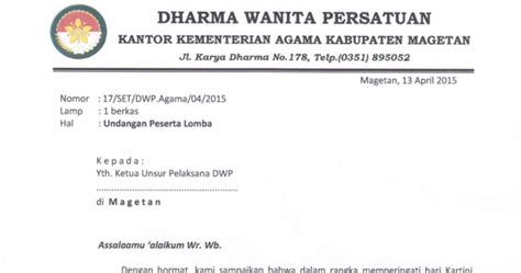 Pin Darma Wanita 1 pendidikan madrasah kab magetan undangan dharma wanita persatuan 22 april 2015