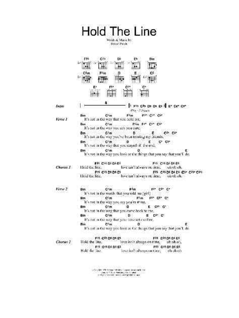 Hold The Line Sheet Music | Toto | Lyrics & Chords