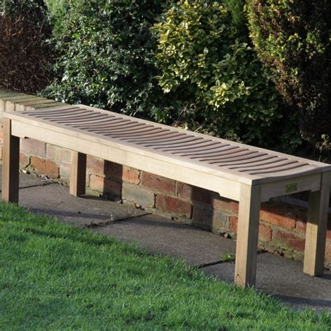 teak backless bench teak backless bench 1 8m woodberry