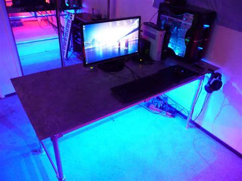 Desk Leds by Aluminum Plate Desk With Led Illumination
