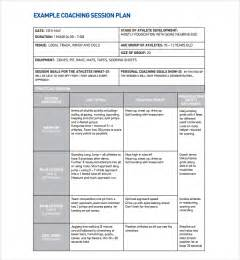Session Plan Template by Sle Coaching Plan Template 7 Free Documents
