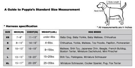 shih tzu size guide puppia harness soft puppia harnesses l doggie