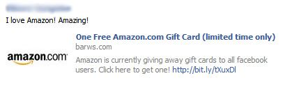 Amazon One Click Gift Card - one free amazon com gift card limited time only facebook scam