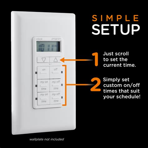 fan with battery backup amazon com mytouchsmart in wall digital timer white