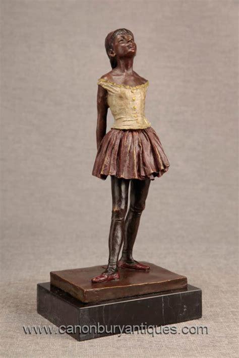 french bronze degas ballerina girl statue figurine ballet