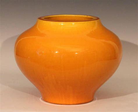 Large Yellow Vase Large Antique Golden Yellow Awaji Pottery Hu Form Vase At