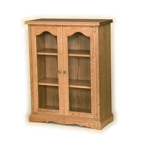 Solid Wood Bookcases With Glass Doors Solid Wood Bookcases With Doors Home Design Ideas