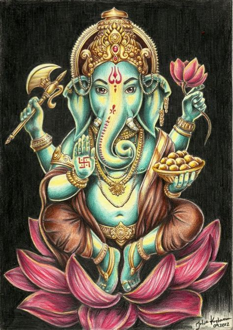 ganesh tattoo colorato 1592 best ganesh god of luck images on pinterest diwali
