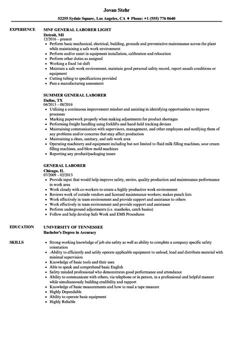 construction laborer resume examples examples of resumes