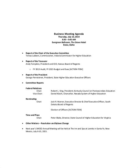 12 sales meeting agenda templates free sle exle
